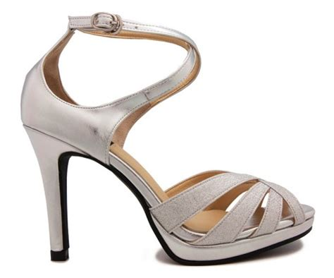 Glitter Wedding Sandals by Silver Glitter Wedding Sandals