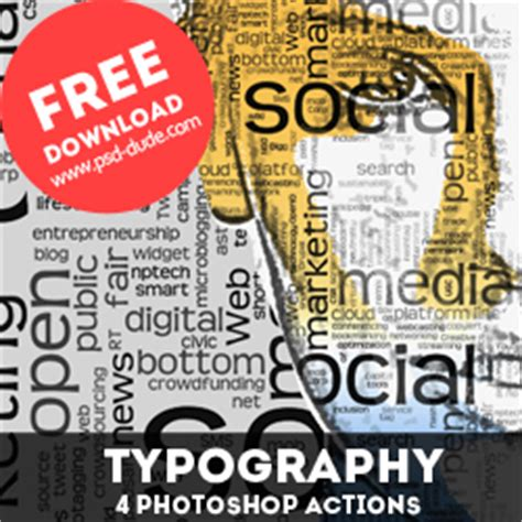 typography tutorial free download typography portrait photoshop free actions psddude
