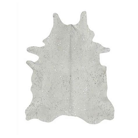 Saddlemans Cowhide Rugs Saddleman S Devore White And Silver Cowhide Rug We