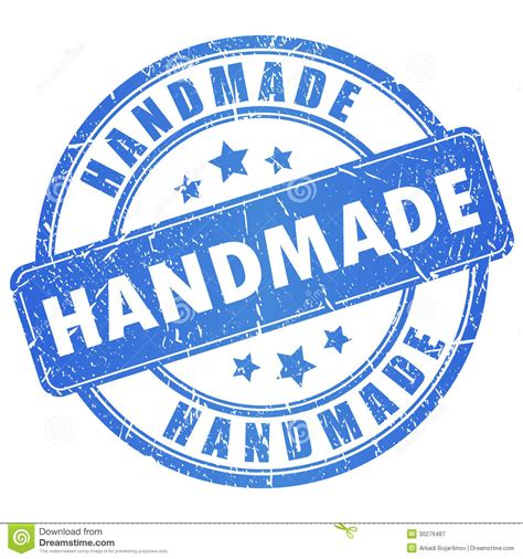 Handcrafted By - vector handmade st stock vector image of done made