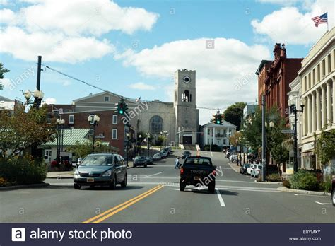 downtown elmira ny usa stock photo royalty free image