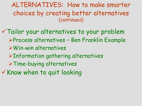 better alternative to ppt smart choices powerpoint presentation id 250711