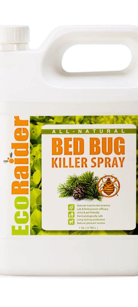 bed bug killer spray  gallon jug natural  toxic ecoraider natural bed bug killer