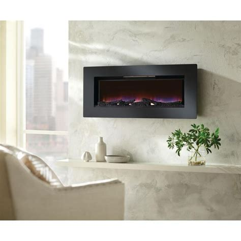 Home Decorators Collections Home Decorators Collection Mirador 46 In Wall Mount Electric Fireplace In Black 47hf100grg At