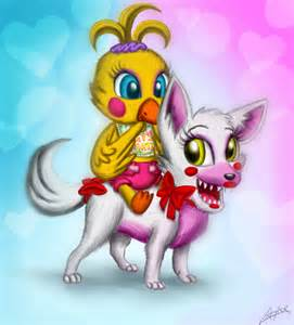 Chibi toy chica and mangle by creytor on deviantart