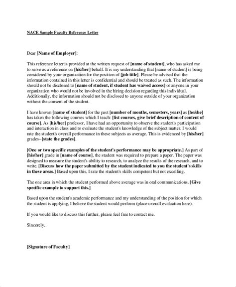 Letter Of Recommendation By College Professor Sle Recommendation Letters 8 Exles In Pdf Word