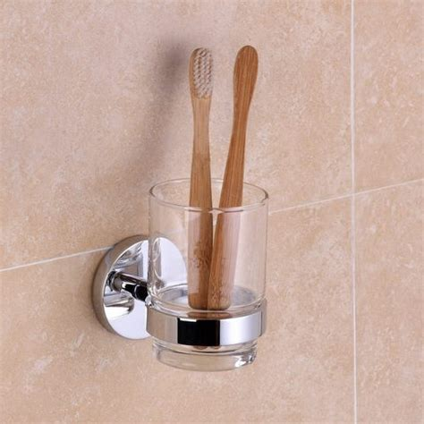 bathroom accessories outlet carine chrome tumbler holder with glass hugo oliver