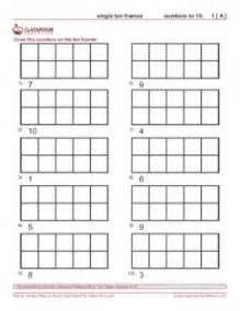 ten frame worksheets use qtip painting to make the dots in