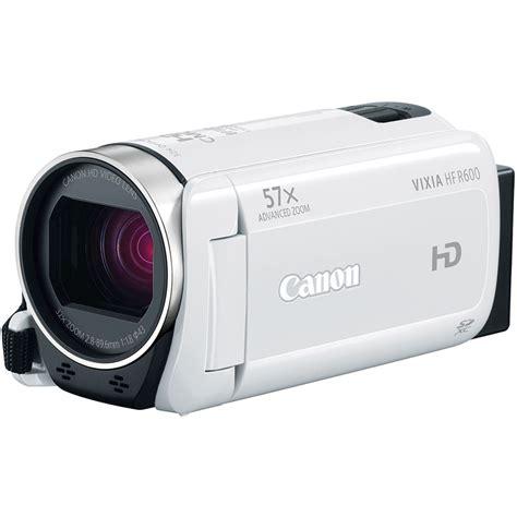 canon vixia canon vixia hf r600 hd camcorder white 0280c002 b h