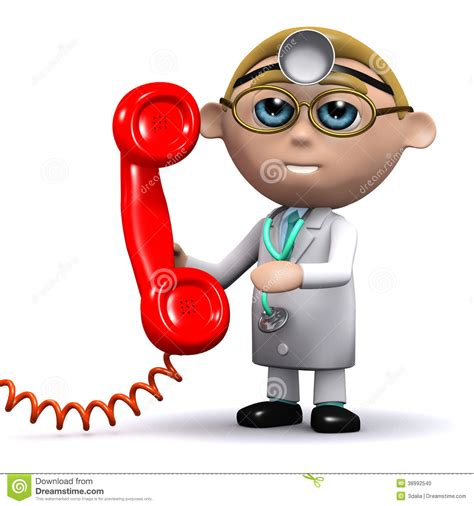 doctor the phone 3d phone the doctor stock illustration illustration of