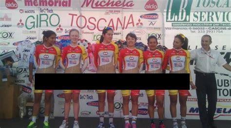 desain kemeja tim balap heboh seragam tim sepeda wanita di kolombia anunya nyaris