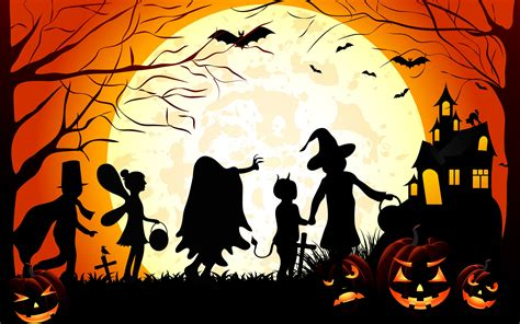 Trick Or Treat Graphic 7 Original Oceanseven vector silhouette wallpaper no