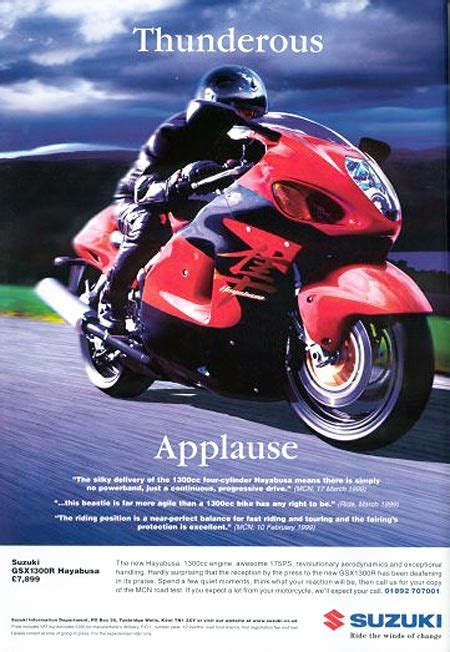 Suzuki Advertisement Suzuki Gsx1300r Hayabusa Magazine Ads