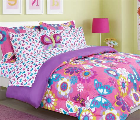 girls bed set girls kids bedding maya butterfly bed in a bag comforter