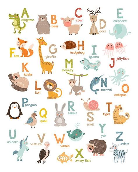 7 Letter Word Animal Names Best 25 Animal Alphabet Ideas On Alphabet