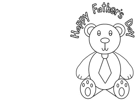 S Day Card Colouring Template by A Child S Place June 2012