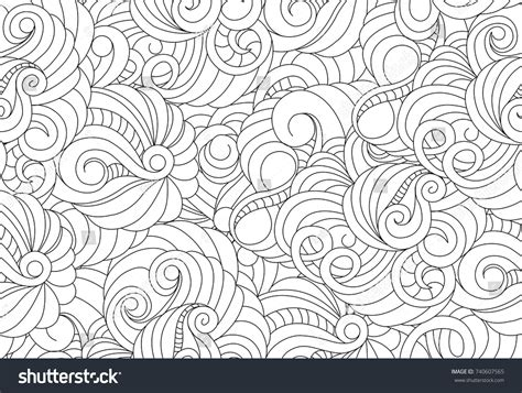 pattern art therapy vector seamless black white abstract pattern stock vector