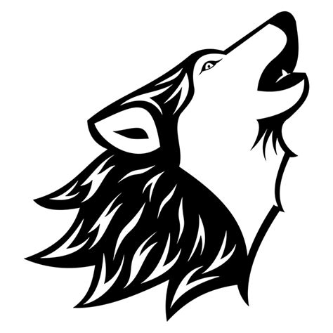 wolf silhouette tattoo howling wolf free vector site free
