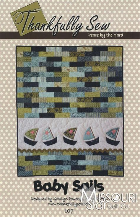 Types Of Quilt Patterns by Baby Sails Applique Quilt Pattern By Thankfully Sew Sku