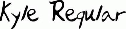 kyle tattoo font kyle regular free font download