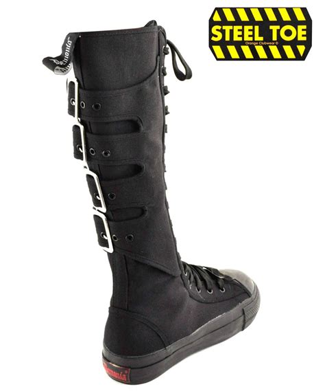 demonia tyrant 303st mens steel toe knee high
