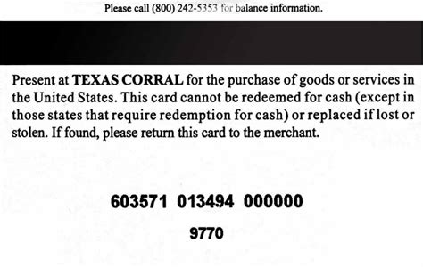 Paymentech Gift Cards - texas corral gift card