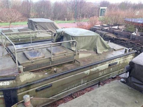 aluminium boot leger duwboot legerboot pontonboot ex genie landmacht deutz