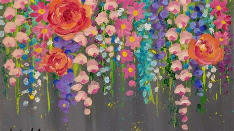 easy acrylic painting ideas flowers paint cotton swab flowers with acrylics easy step by