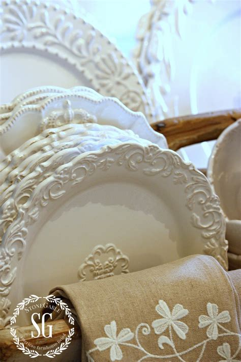 Cheap Ways To Decorate Your Home white dishes farmhouse style