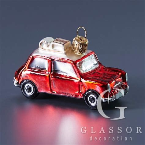 red mini cooper christmas ornament handcrafted glass ornaments from the republic tres bohemes