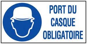 panneau port du casque obligatoire rigide 960x480mm novap