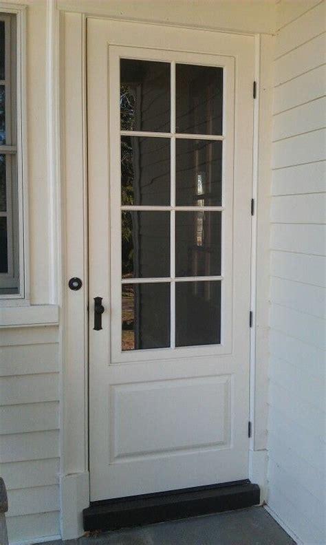 traditional wood mahogany painted storm door