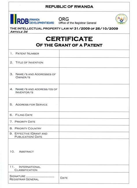 sle patent application template patent certificate template sle clerk resume free resume
