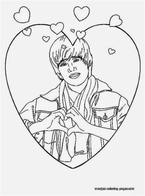 justin bieber coloring pages justin bieber pictures to color free coloring pictures