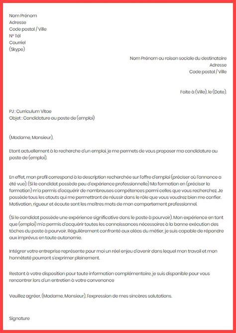 lettre de motivation exemple type modle gratuit de lettre