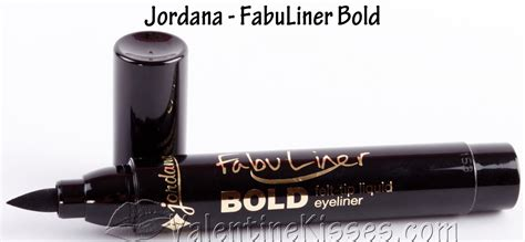 Jordana Fabuliner Liquid Eyeliner Black kisses jordana fabuliner bold felt tip liquid eyeliner in black pics swatches review