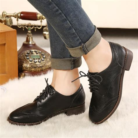 oxford style shoes womens sale vintage style carved lace up oxford shoes