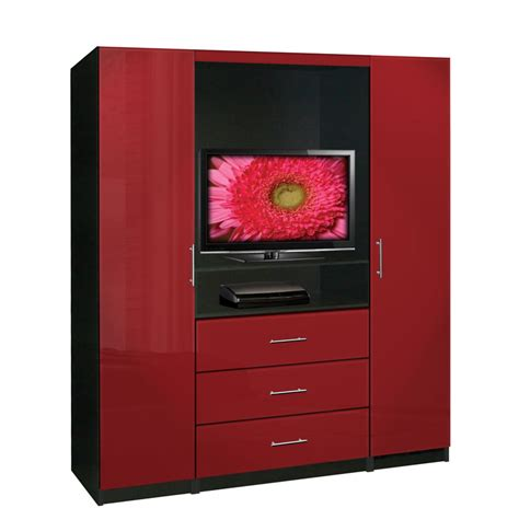 red tv armoire aventa tv armoire contempo space