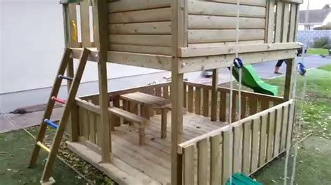 Playhouse Shed Plans extra large raised playhouse youtube