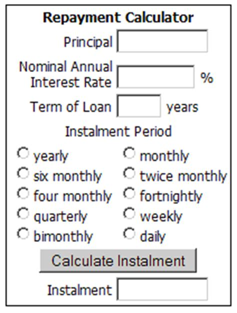 house loan repayment calculator loan repayment calculator