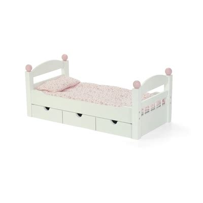 18 Inch Doll Bunk Bed With Trundle 18 Inch Doll Furniture White Trundle Bed With Bedding Fits American 174 Dolls