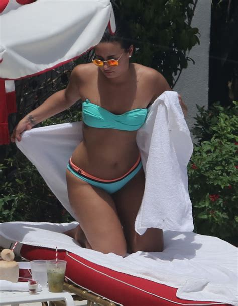 demi lovato confident 1 hour photos demi lovato is bikini confident during her