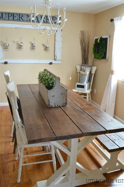 dining room farm table modern farmhouse dining room makeover little vintage nest