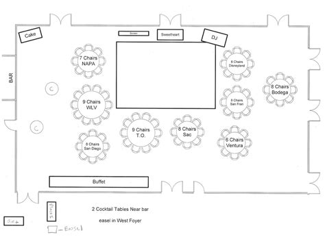 event layout diagram sle seating diagram and floor plan www hawaiianweddings