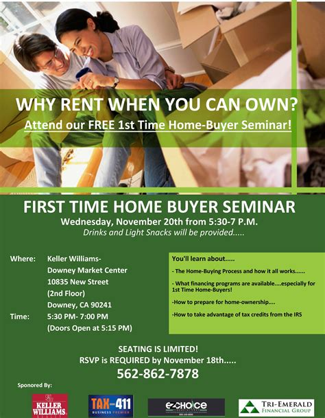 section 8 first time home buyer first time home buyer workshop tickets wed nov 20 2013