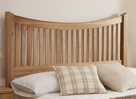 aston headboard oak wood
