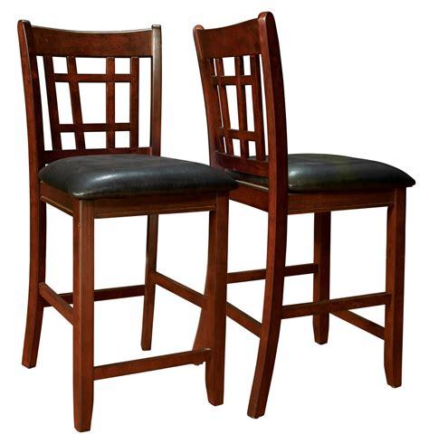 Black Pub Chairs 1156 Cappuccino Black Pub Chair Set Of 2 I 1156 Monarch