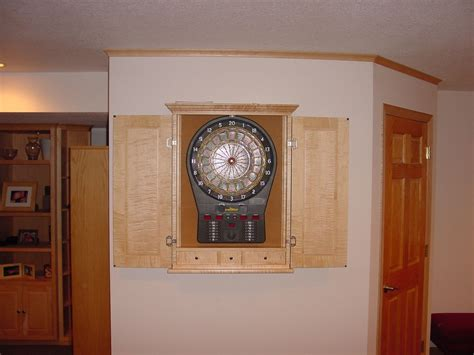 custom dart board cabinet custom made maple dart board cabinets by bbg woodworks