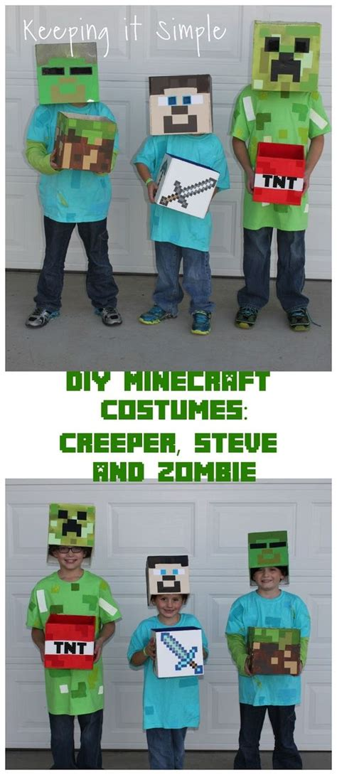 tutorial zombie costume diy minecraft costumes creeper steve and zombie