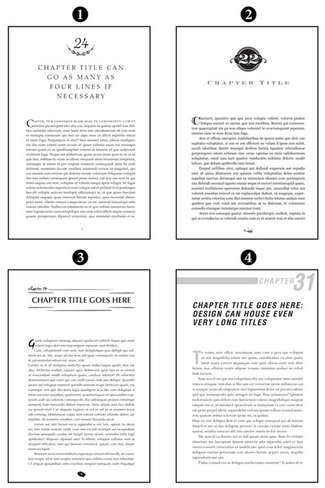 book layout chapter headings book page layout design sles